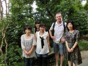 Here's Dad with the Sugahara ladies & Mrs. Komaki
