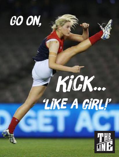 Kick like a gal!
